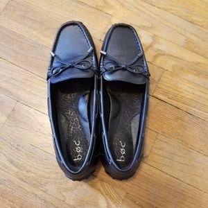 b.o.c. Belgian-style black loafers with bow detail